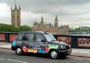 Azure Dynamics hybrid electric vehicle (HEV) London taxi with MotoHawk