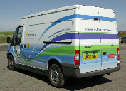 Revolve Technologies bi-fuel Ford Transit light commercial vehicle (LCV) with MotoHawk